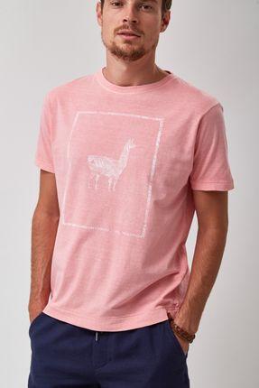 Camiseta-Lhama-Frame---Rosa---Tamanho-P