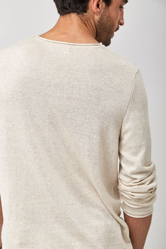 Tricot-Pull-Linho---Natural---Tamanho-P