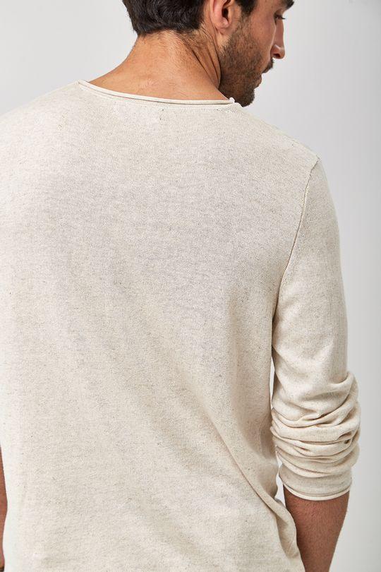 Tricot-Pull-Linho---Natural---Tamanho-G