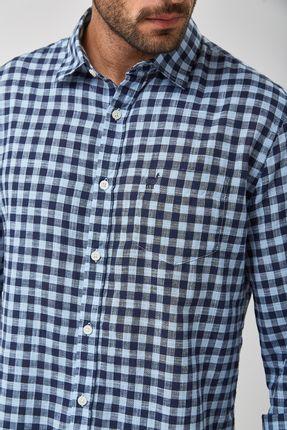 Camisa-Vichy-Bicolor-Leve---Azul---Tamanho-GG