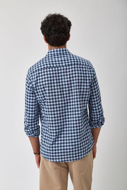 Camisa-Vichy-Bicolor-Leve---Azul---Tamanho-P