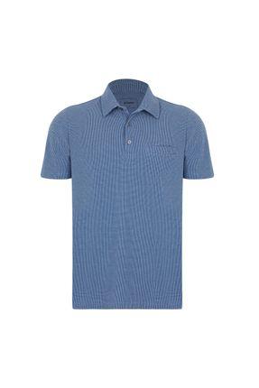 Polo-Jacquard---Azul