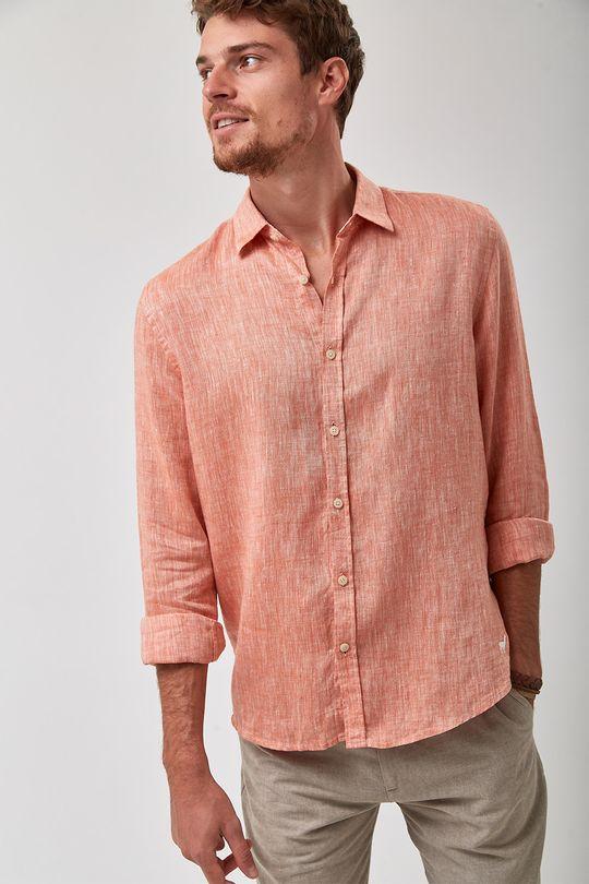 Camisa-100--Linho-Mescla---Coral