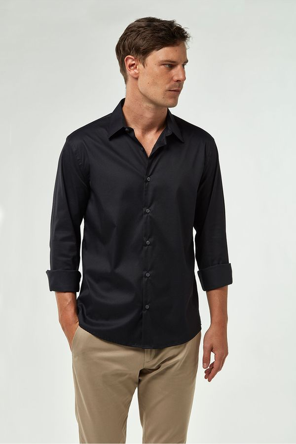 Camisa-Tricoline-Premium---Preto---Tamanho-P