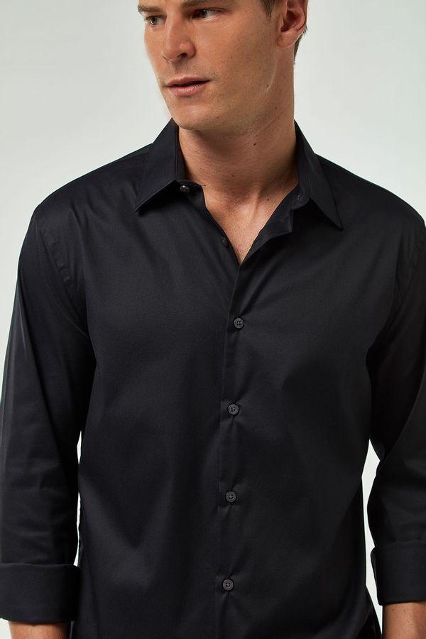 Camisa-Tricoline-Premium---Preto---Tamanho-G