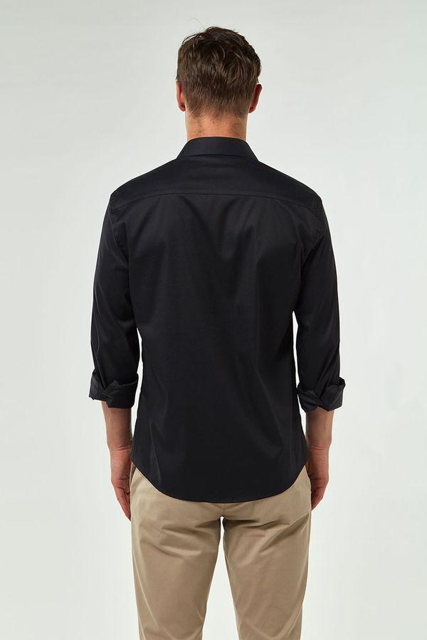 Camisa-Tricoline-Premium---Preto---Tamanho-M