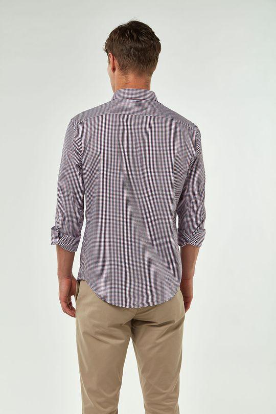 Camisa-Mini-Xadrez---Marinho-Vermelho---Tamanho-P