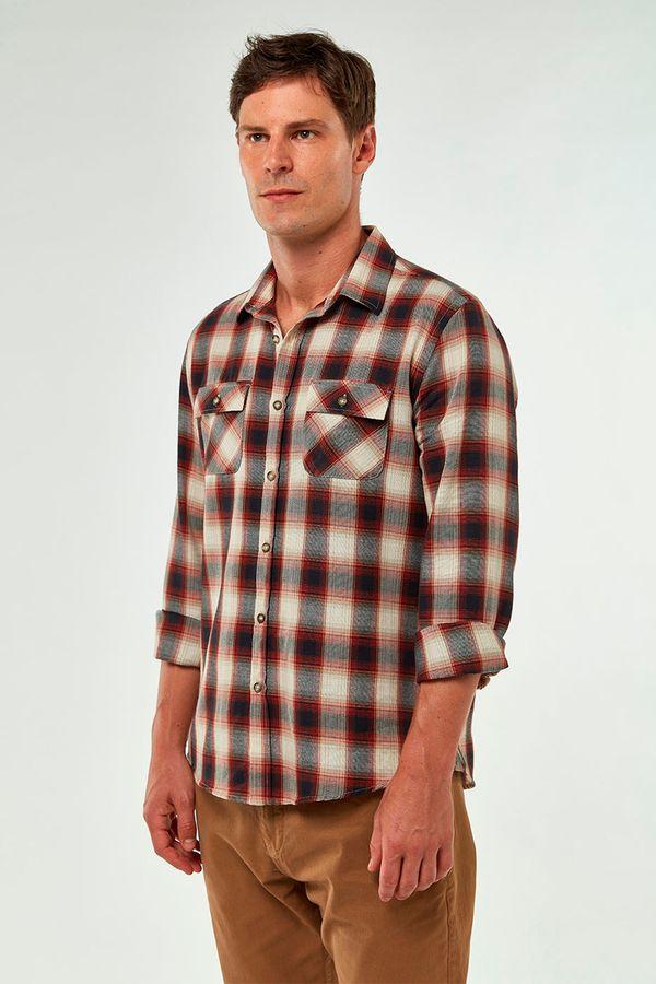 Camisa-Xadrez-Dois-Bolsos---Terra---Tamanho-P