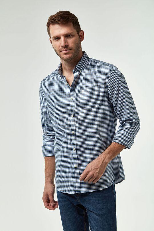 Camisa-Oxford-Mini-Vichy---Azul-C-Branco---Tamanho-P