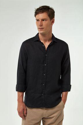 Camisa-100--Linho-Premium---Preto---Tamanho-P
