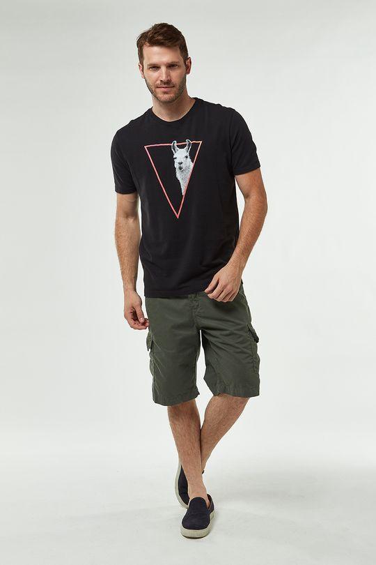 Camiseta-Lhama-Crepe---Preto---Tamanho-M
