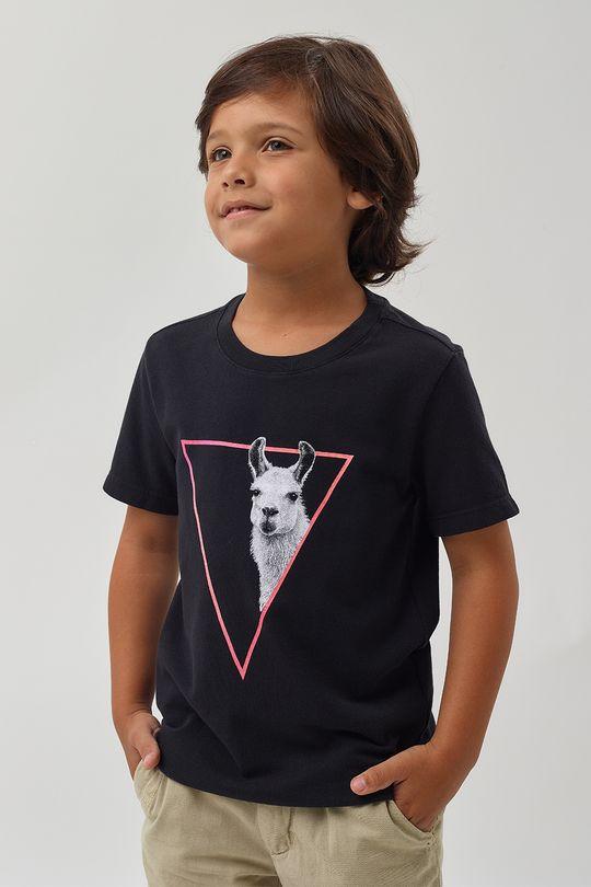 Camiseta-Lhama-Crepe-Boys---Preto---Tamanho-6