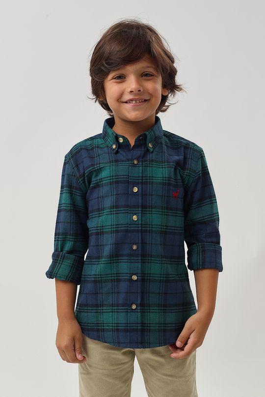 Camisa-Flanela-Xadrez-Boys---Marinho-Verde---Tamanho-2