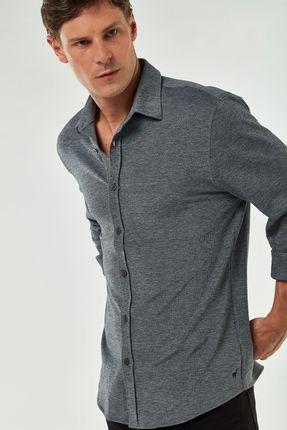 Camisa-De-Malha-Oxford---Preto---Tamanho-M