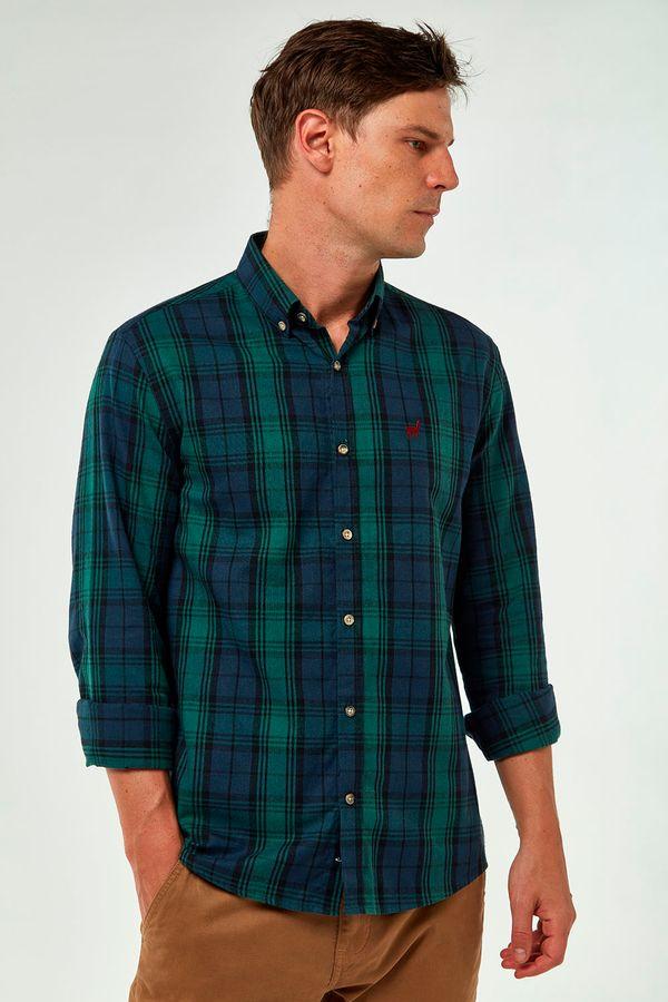 Camisa-Flanela-Xadrez---Marinho-Verde---Tamanho-P