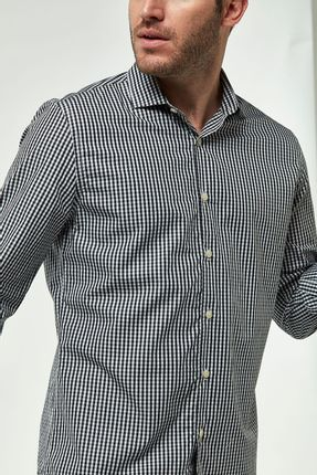 Camisa-Vichy-Premium---Preto-Branco---Tamanho-P