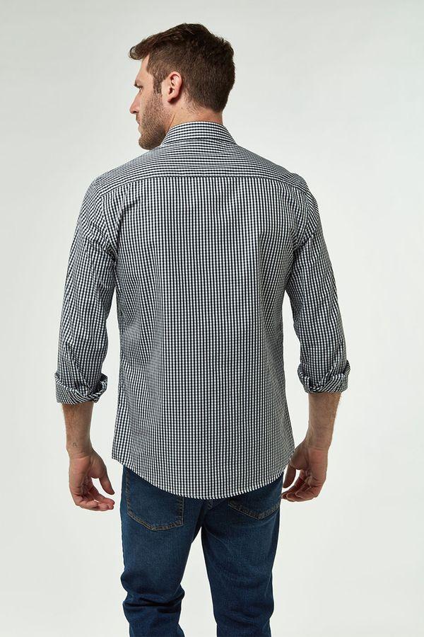 Camisa-Vichy-Premium---Preto-Branco---Tamanho-X