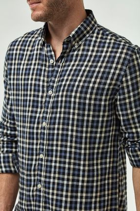 Camisa-Xadrez-Com-Viscose---Azul-E-Khaki-