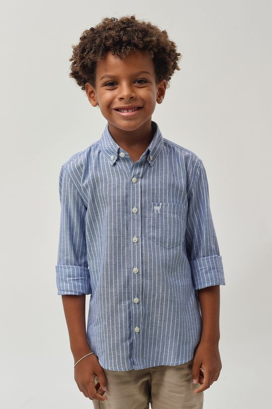 Camisa-Oxford-Listrada-Boys---Azul-C-Branco
