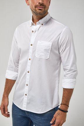 Camisa-Ml-Tricoline-Tinturada---Branco---Tamanho-P