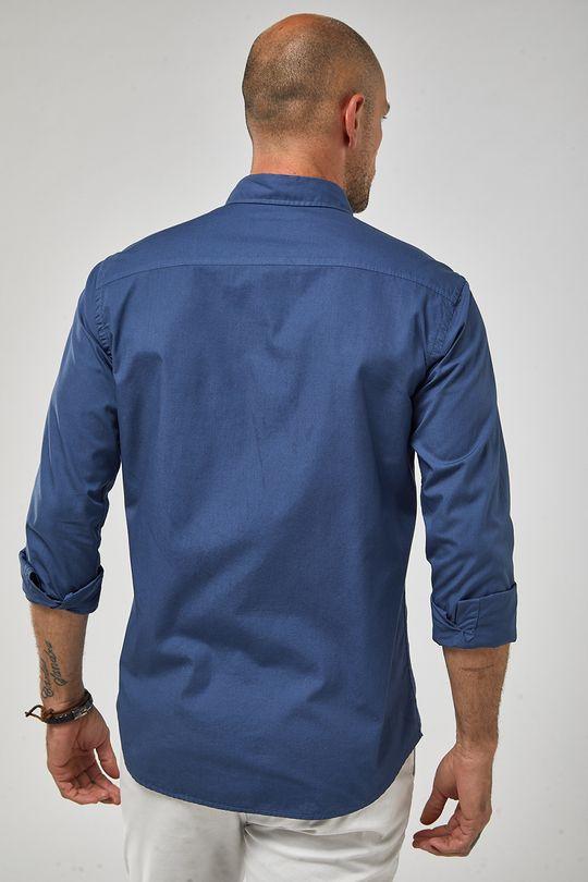 Camisa-Ml-Tricoline-Tinturada---Indigo---Tamanho-P