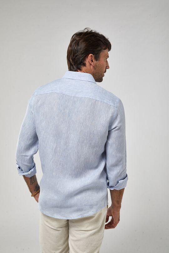 Camisa-ML-100--Linho-Mescla---Azul-Claro---Tamanho-P