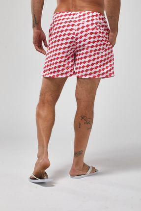 Shorts-Geometrico---Vermelho---Tamanho-P