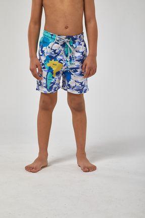 Shorts-Mapa-Boys---Branco-Com-Azul---Tamanho-2