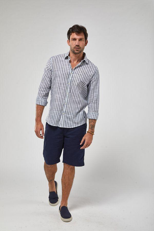 Camisa-ML-Listra-Larga-Leve---Branco-Com-Azul---Tamanho-GG
