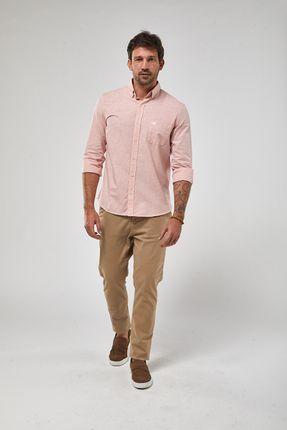 Camisa-ML-Fio-A-Fio---Papaya---Tamanho-G