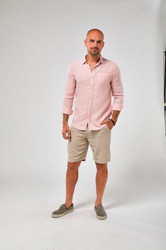 Camisa-ML-100--Linho-Tinturado---Rosa-Claro---Tamanho-P