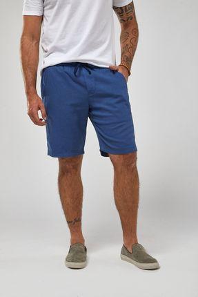 Bermuda-Cos-Elastico-Linho---Azul---Tamanho-P