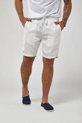 Bermuda-Cos-Elastico-Linho---Off-White---Tamanho-P