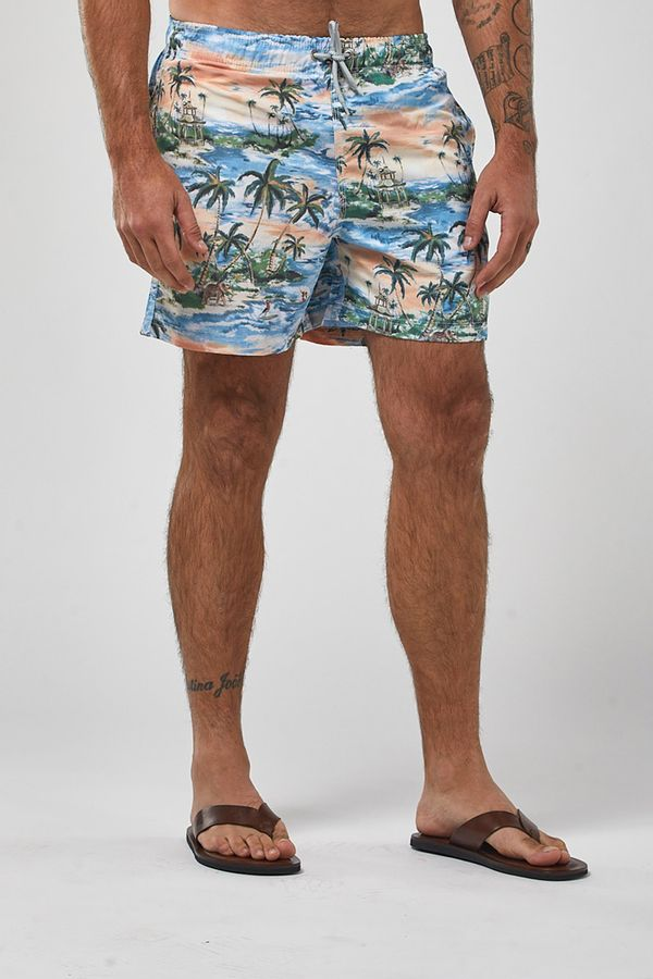Shorts-Indonesia---Branco-Com-Laranja---Tamanho-P