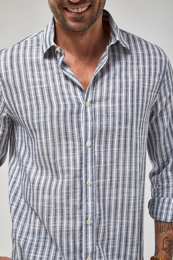 Camisa-ML-Listra-Larga-Leve---Branco-Com-Azul---Tamanho-P