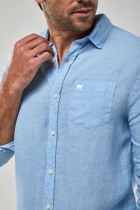 Camisa-ML-100--Linho-Tinturado---Azul-Claro---Tamanho-P