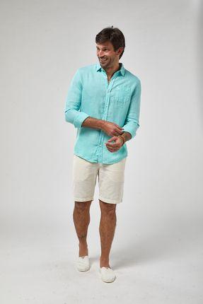 Camisa-ML-100--Linho-Tinturado---Verde-Piscina---Tamanho-M
