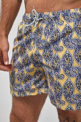 Shorts-Paisley---Amarelo---Tamanho-M