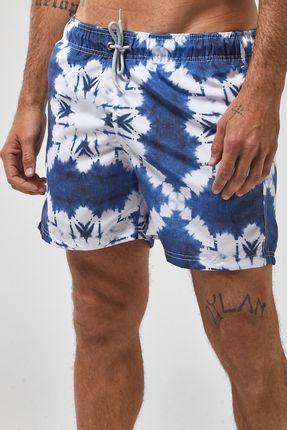 Shorts-Shibori---Branco-Com-Azul---Tamanho-P