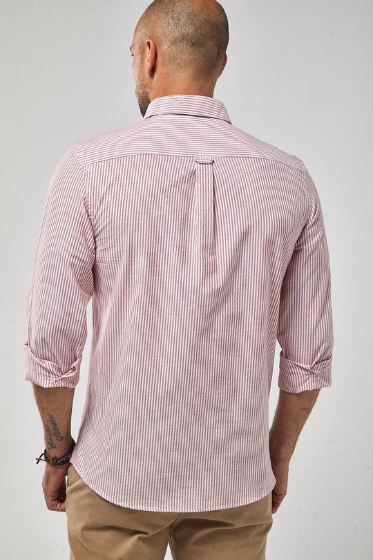 Camisa-ML-Button-In-Listarda---Vermelho-Branco---Tamanho-P