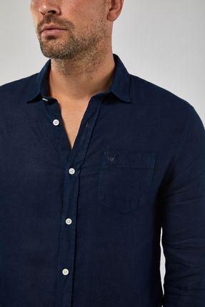 Camisa-ML-100--Linho-Tinturado---Marinho---Tamanho-M