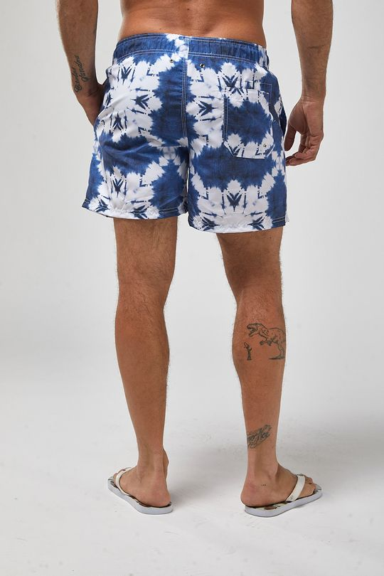 Shorts-Shibori---Branco-Com-Azul---Tamanho-M