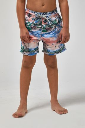 Shorts-Indonesia-Boys---Branco-Com-Laranja---Tamanho-2