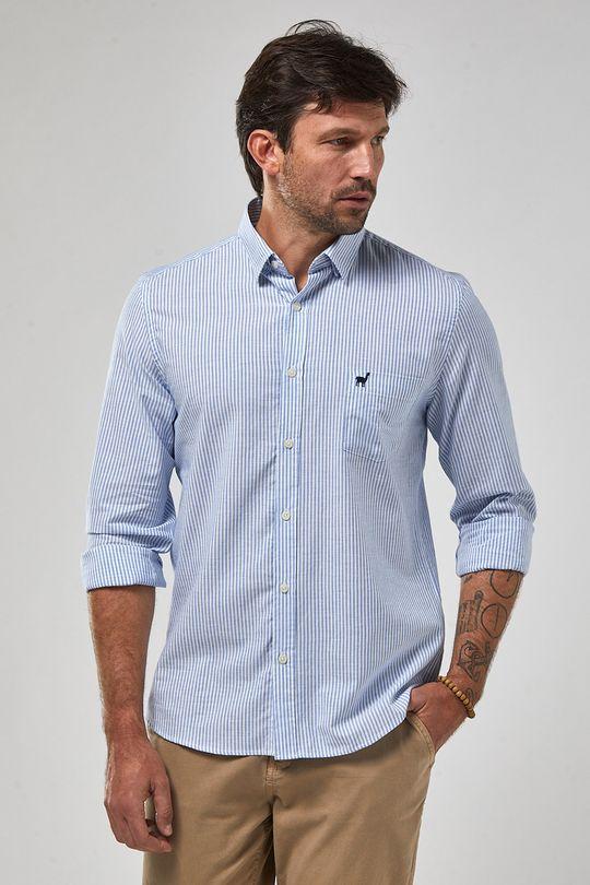 Camisa-ML-Button-In-Listarda---Branco-Com-Azul---Tamanho-P