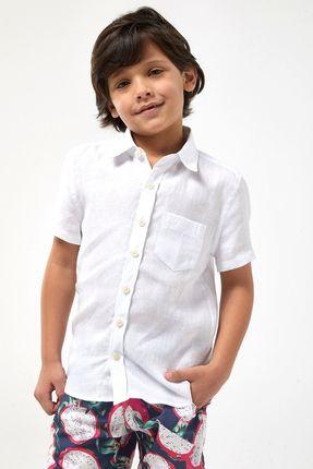 Camisa-MC-100--Linho-Boys---Branco---Tamanho-4