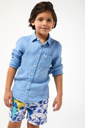 Camisa-ML-100--Linho-Boys---Azul-Claro---Tamanho-2