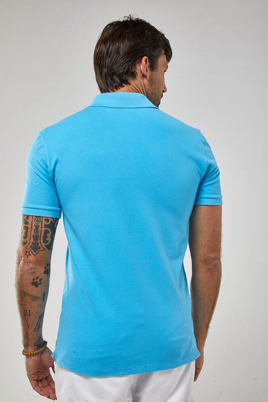 Polo-Lhama-Stretch---Azul-Turquesa---Tamanho-P