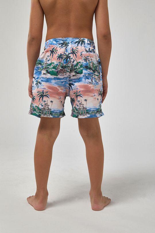 Shorts-Indonesia-Boys---Branco-Com-Laranja---Tamanho-4
