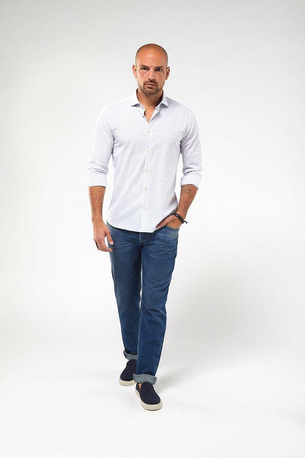 Camisa-ML-Tricoline-Quadrados---Branco-Com-Azul---Tamanho-X