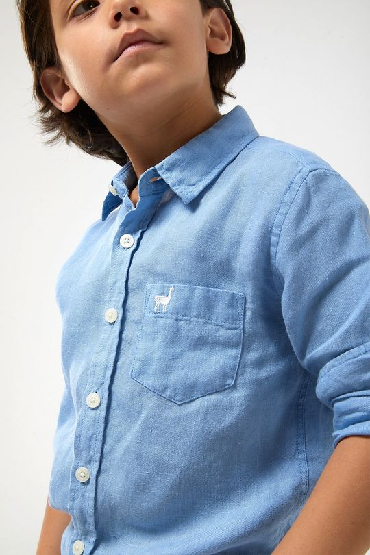 Camisa-ML-100--Linho-Boys---Azul-Claro---Tamanho-4